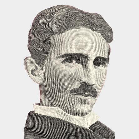 Nikola Tesla - ilustracija