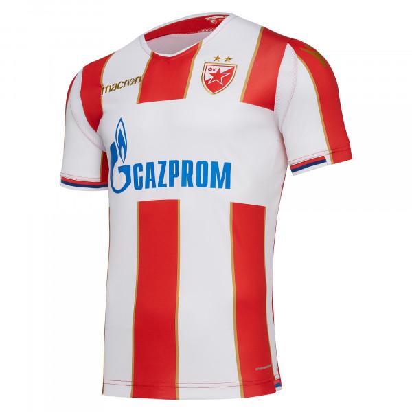 DRES FK CRVENA ZVEZDA, BEOGRAD, SEZONA 2018/2019, MACRON, CRVENO BELI, DOMAĆI