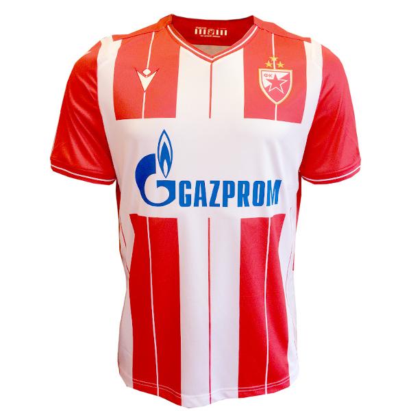 DRES FK CRVENA ZVEZDA BEOGRAD, Makron 2019/20, crveno beli sa trećom zvezdom-1