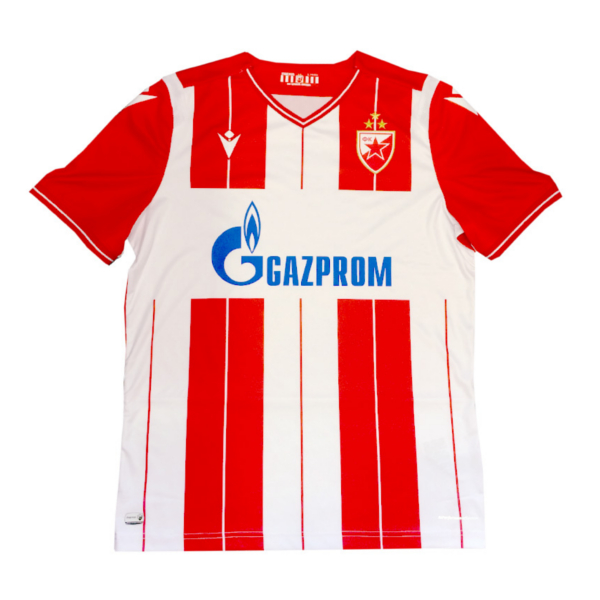 DRES FK CRVENA ZVEZDA BEOGRAD, Makron 2019/20, crveno beli sa trećom zvezdom-3