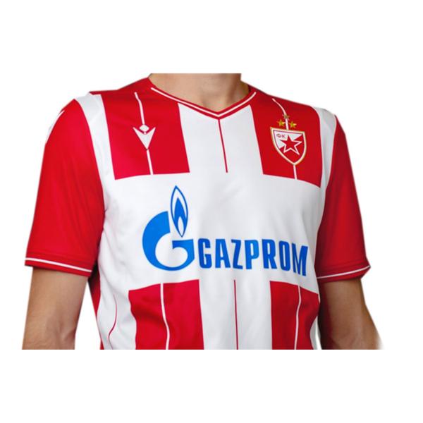 DRES FK CRVENA ZVEZDA BEOGRAD, Makron 2019/20, crveno beli sa trećom zvezdom-2