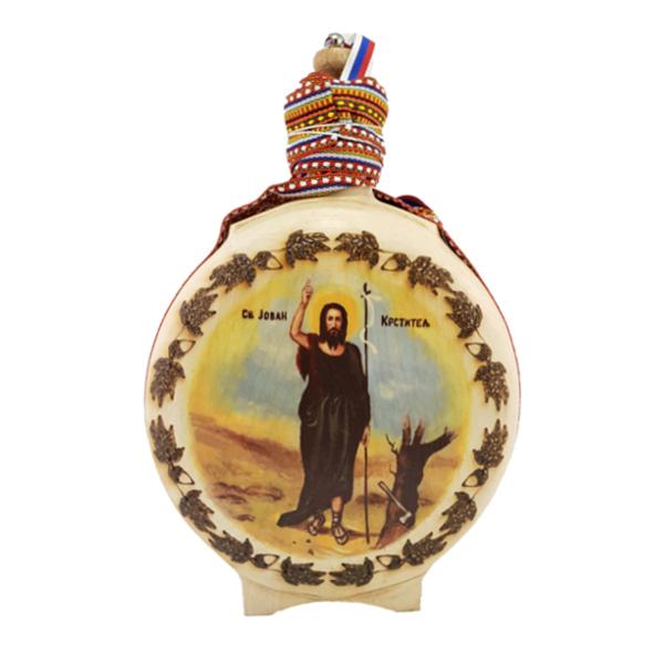 Čutura za rakiju, Svetlo Drvo, Sveti Jovan, pljoska za rakiju, buklija-1