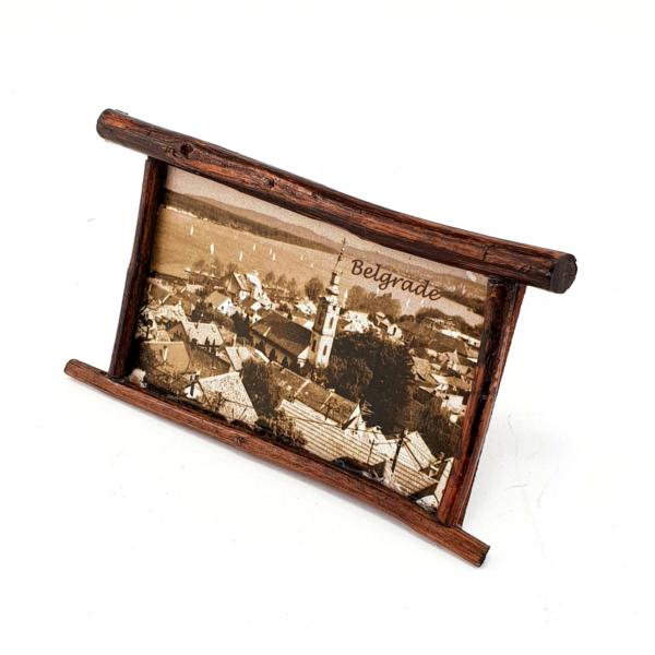 Magnet Beograd,Zvonik Saborne Crkve, Drveni Ram, Tamni-1
