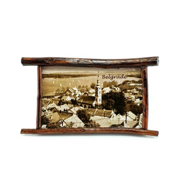 Magnet Beograd,Zvonik Saborne Crkve, Drveni Ram, Tamni-2