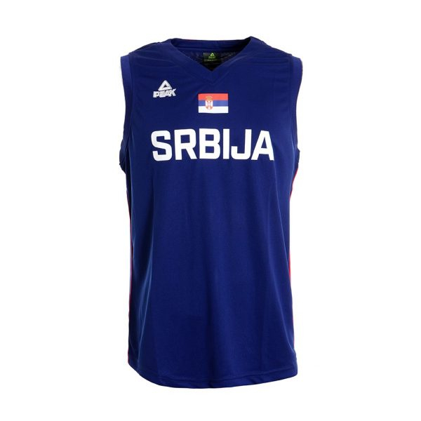 BASKETBALL  JERSEY OF SERBIA NATIONAL TEAM, NAVY BLUE, WITH PRINT SERVICE-1