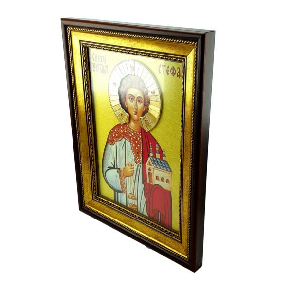 IKONA SVETI STEFAN, slavska ikona, 40x30 cm-2