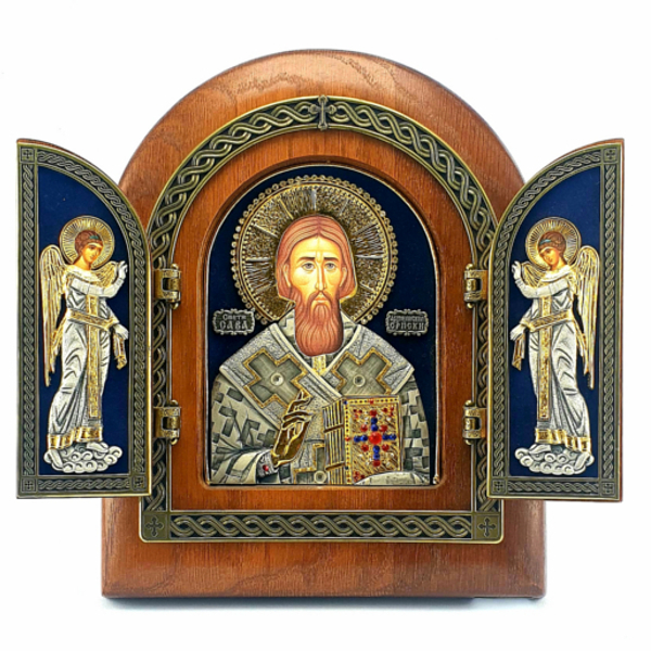 TRIPTIH, ISUS I ANDJELI, 17x22cm-1