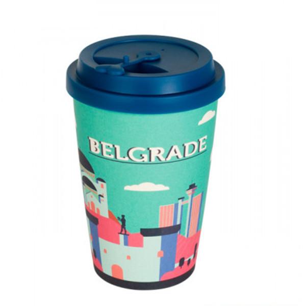 BigBamBoo Šolja Od Bambusa Belgrade City Shapes 500 Ml-1
