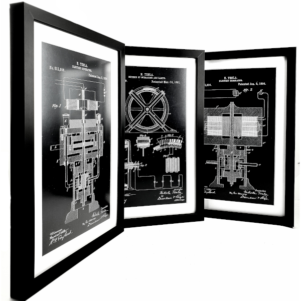TESLA PATENTI Grafika, 3pack, Nikola Tesla Patents, Set 3-7