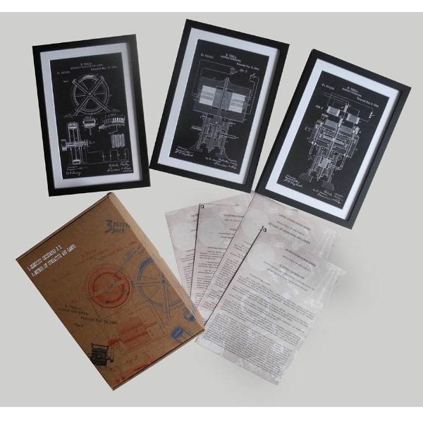TESLA PATENTI Grafika, 3pack, Nikola Tesla Patents, Set 3-6