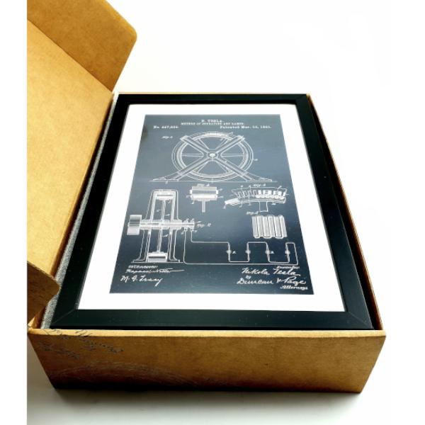 TESLA PATENTI Grafika, 3pack, Nikola Tesla Patents, Set 3-5