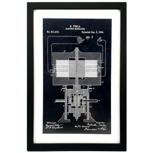 TESLA PATENTI Grafika, 3pack, Nikola Tesla Patents, Set 3-4
