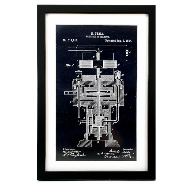 TESLA PATENTI Grafika, 3pack, Nikola Tesla Patents, Set 3-3