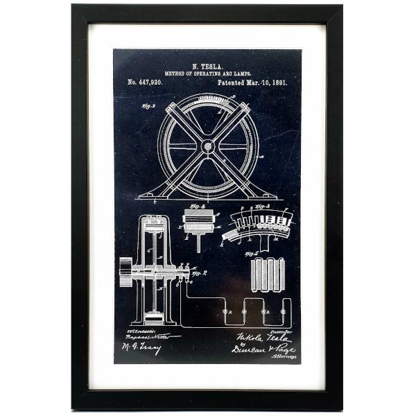TESLA PATENTI Grafika, 3pack, Nikola Tesla Patents, Set 3-2