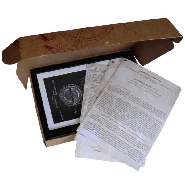 TESLA PATENTI Grafika, 3pack, Nikola Tesla Patents, Set 2-5