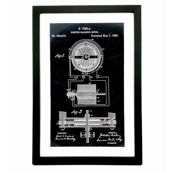TESLA PATENTI Grafika, 3pack, Nikola Tesla Patents, Set 2-3