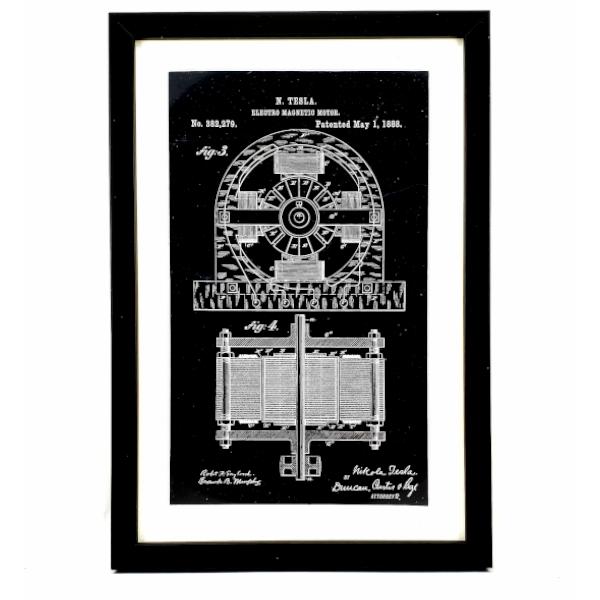 TESLA PATENTI Grafika, 3pack, Nikola Tesla Patents, Set 2-2