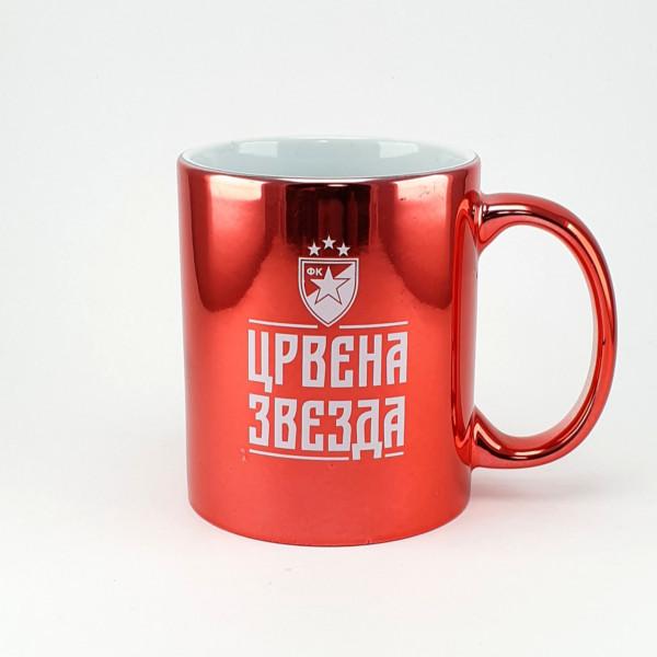 ŠOLJA METALIK – CRVENA - CRVENA ZVEZDA-4