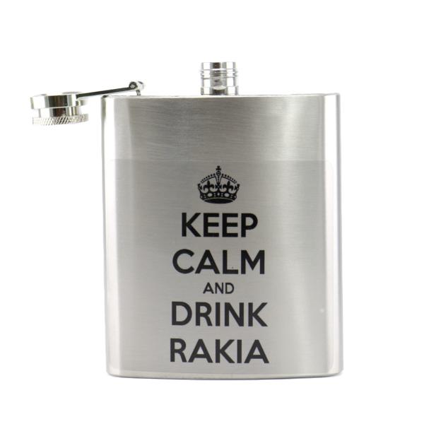 HIP FLASK - KEEP CALM AND DRINK RAKIA-2