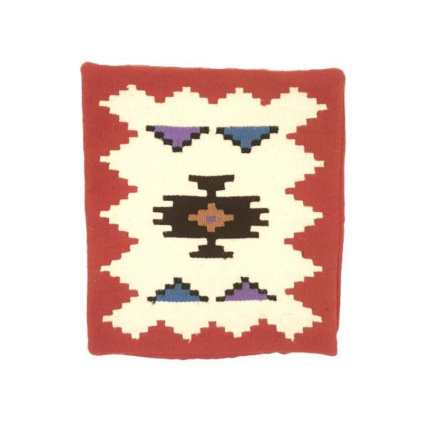 JASTUČNICA TKANA Crveno bela, etno ornament-4
