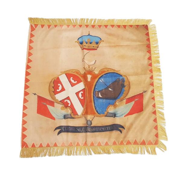 """Ustanička Zastava """"Prvog Srpskog Ustanka"""" – Bež  (75x75cm)-1"""