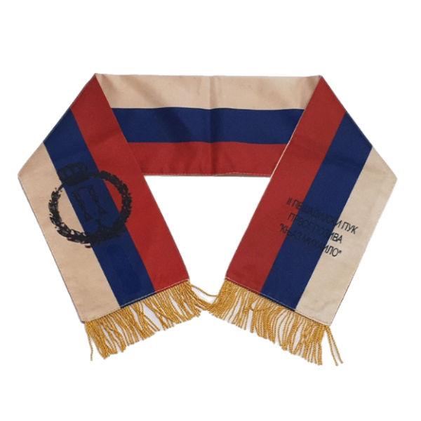 Pukovska Zastava Sa Lentom - (Z. 75x75cm, L. 15x100cm)-2