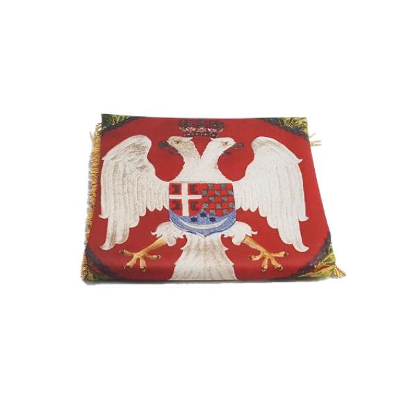 Zastava Triglavskog Puka Jugos. Kralje. Vojske - (75x75cm)-3