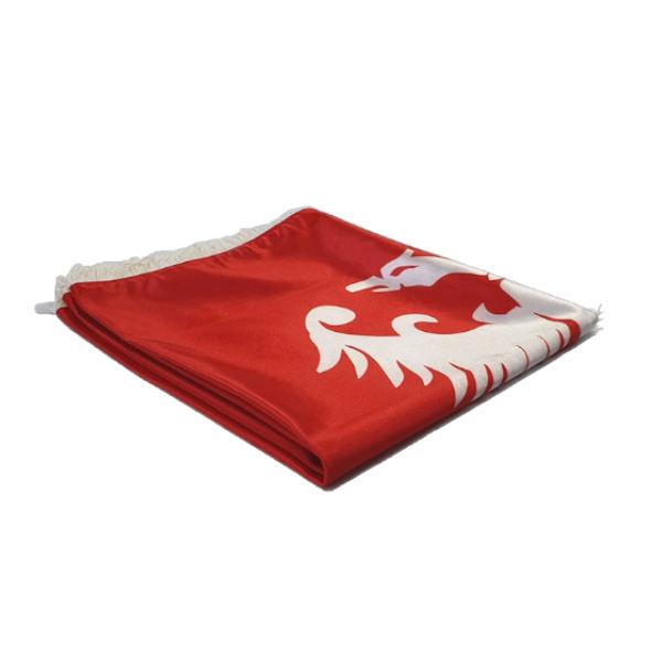 Zastava Nemanjića - Saten Crvena - 150x100cm-3