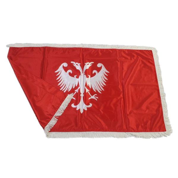 Zastava Nemanjića - Saten Crvena - 150x100cm-2