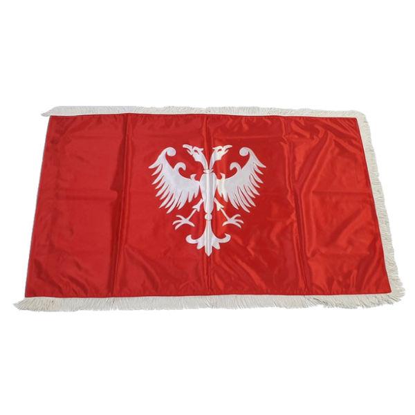 Zastava Nemanjića - Saten Crvena - 150x100cm-1