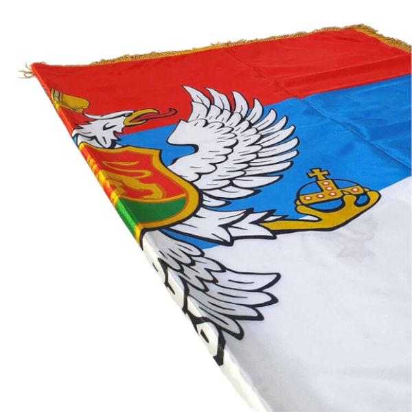 Zastava Kraljevine Crne Gore - Saten - 120x80cm-2
