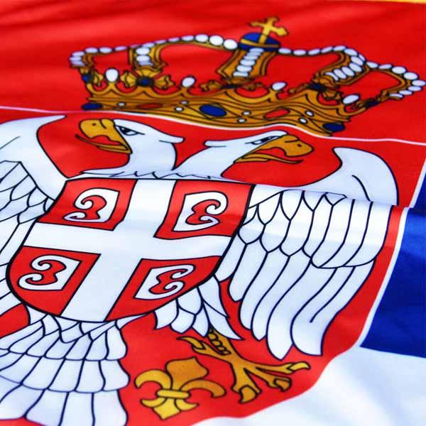 Zastava Srbije Svečana - Krep Saten - 120x80cm-3