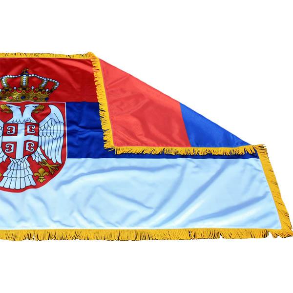Zastava Srbije Svečana - Krep Saten - 120x80cm-2