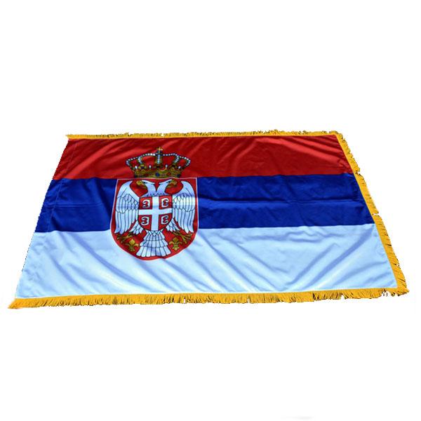 Zastava Srbije Svečana - Krep Saten - 120x80cm-1