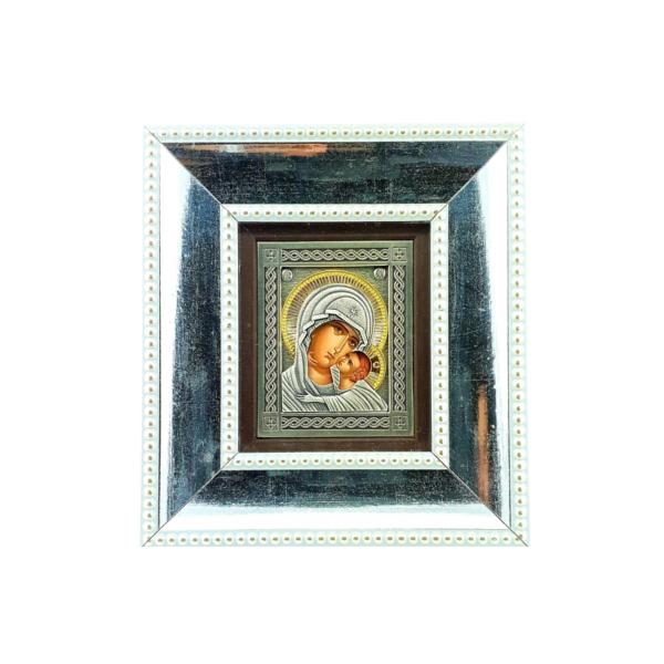 BOGORODICA UMILJENJE - SREBRNA BOJA - 14.5x16cm-2