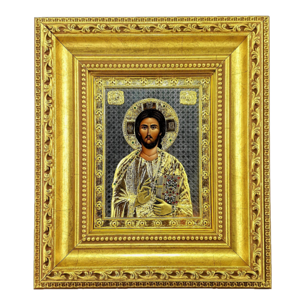 IKONA METALNA ISUS HRIST 27x24cm