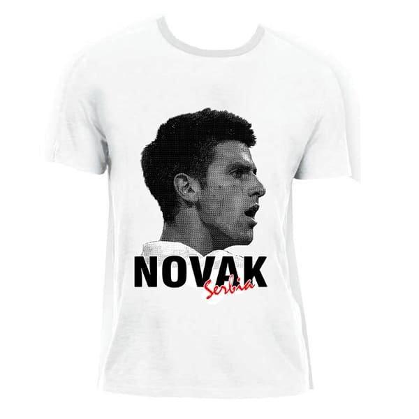 MAJICA - NOVAK SERBIA -  DJOKOVIC DOKOVIC JOKER - CRNA, BELA-2