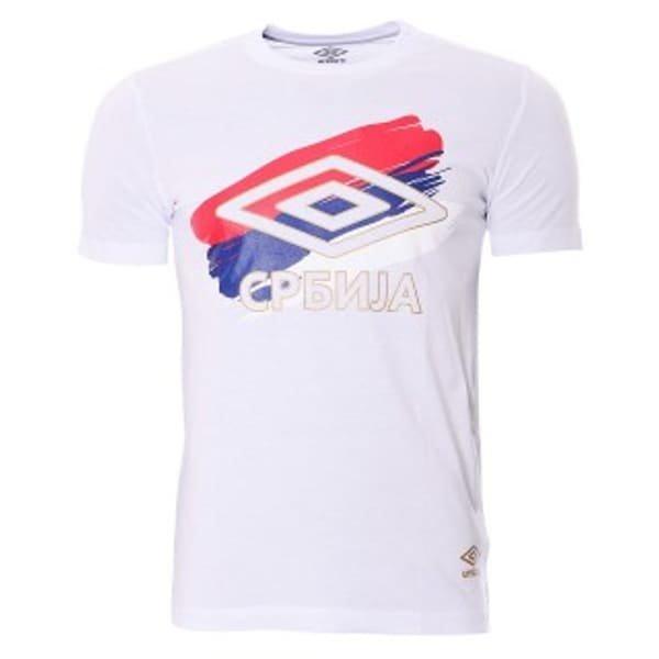 Navijačka Majica Reprezentacije Srbije Umbro Bela-1