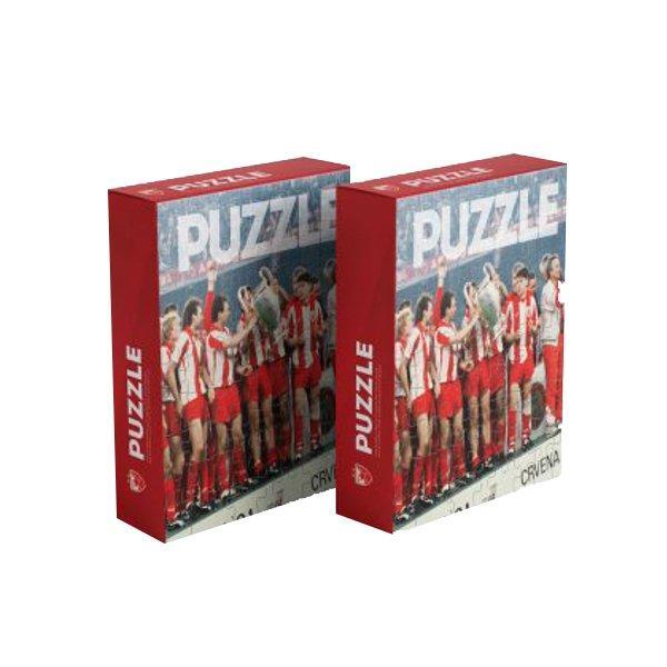 PUZLE SLAGALICA -FK CRVENA ZVEZDA - BARI 1991 PUZZLE-1