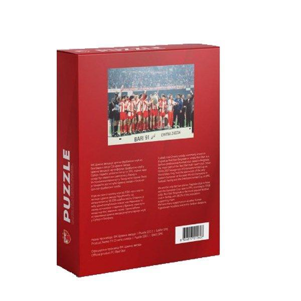 PUZLE SLAGALICA -FK CRVENA ZVEZDA - BARI 1991 PUZZLE-2