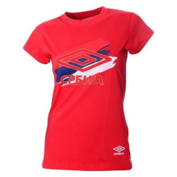 Ženska Navijačka Majica Reprezentacije Srbije Umbro Crvena