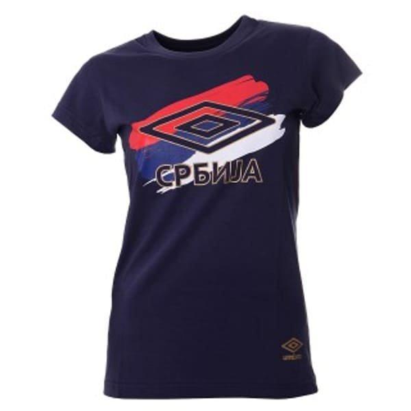 Ženska Navijačka Majica Reprezentacije Srbije Umbro Teget